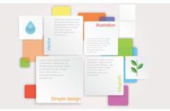 Färgrik ekologisk design för vektor Arkivbilder