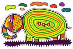 färgrik elefant Arkivbild