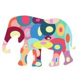 färgrik elefant Fotografering för Bildbyråer