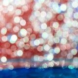 Färgrik elegant abstrakt bakgrund med bokeh tänder Arkivbilder