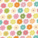 Färgrik enkel blommavektor Royaltyfri Bild