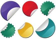 färgrik etikettsvektor Arkivfoto