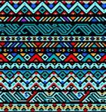 Färgrik etnisk geometrisk aztec sömlös modell, Arkivbilder