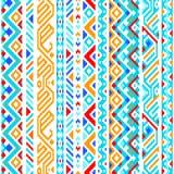 Färgrik etnisk geometrisk aztec sömlös modell Royaltyfria Foton