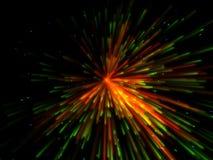 färgrik explosion Royaltyfri Fotografi