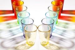 färgrik exponeringsglasmurano Fotografering för Bildbyråer