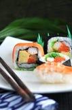 Färgrik färg av sushi Fotografering för Bildbyråer