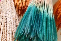 Färgrik färgad risfält- och växtgräsblomma för garnering arkivfoto
