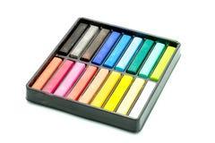 Färgrik färgpenna med isolerad vit bakgrund Arkivfoton