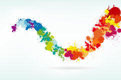 färgrik färgstänk för bakgrund vektor illustrationer