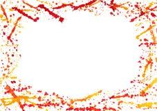 färgrik färgstänkvattenfärg för abstrakt kant Arkivbilder
