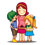 Färgrik förälskelsefamilj Arkivbilder