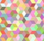 Färgrik för mosaikbakgrund för kub 3d design Royaltyfria Bilder