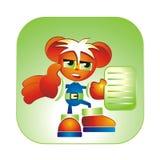färgrik förlaga för avatar Fotografering för Bildbyråer