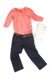 Färgrik förlagd kläder Royaltyfri Fotografi