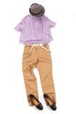 Färgrik förlagd kläder Royaltyfria Bilder