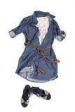 Färgrik förlagd kläder Arkivbild