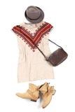 Färgrik förlagd kläder Royaltyfria Foton