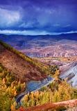 färgrik fall för porslin som målning av xinjiang Arkivfoton