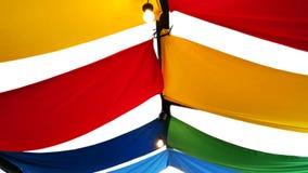 Färgrik festivaltakkanfas som isoleras på vit bakgrund royaltyfri fotografi
