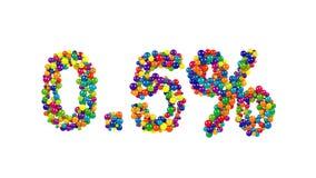 Färgrik festlig naughtpunkt fem procent symbol Arkivfoton