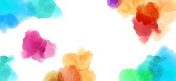 Färgrik finnig bakgrund för akvarellillustrationmålning stock illustrationer
