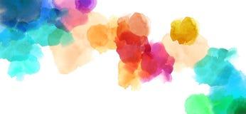 Färgrik finnig bakgrund för akvarellillustrationmålning royaltyfri illustrationer