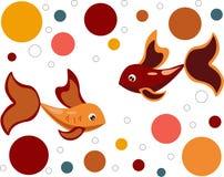 Färgrik fisk på en vit bakgrund royaltyfri illustrationer