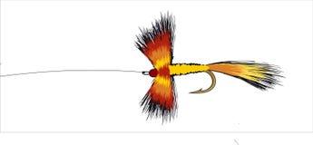 färgrik fiskefluga Arkivbild