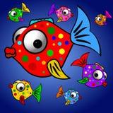 färgrik fiskillustration Royaltyfria Foton