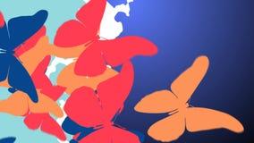 Färgrik fjärilssvärm Arkivbild