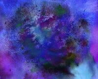 färgrik fläckvattenfärg Texturerat papper Gjord hand - måla lodisar Arkivfoton