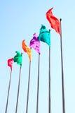 färgrik flagga Royaltyfri Foto