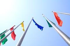 färgrik flagga Royaltyfri Fotografi