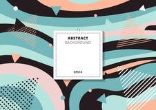Färgrik flerfärgad bakgrund för abstrakt idérik modell för collage geometrisk Du kan använda för tryck, affischer, kort, broschyr stock illustrationer