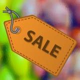 Färgrik flerfärgad låg polygonal abstrakt modell med försäljningsläder som etikettsetiketten eps10 Arkivfoton