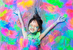 Färgrik flicka arkivfoto