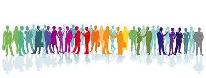 Färgrik folkmassa på ett ställe vektor illustrationer