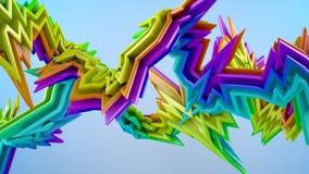 Färgrik form för stil 3D Royaltyfria Bilder
