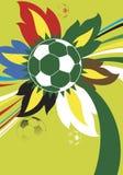 färgrik fotboll Arkivfoto