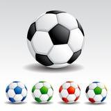 färgrik fotboll för boll vektor illustrationer