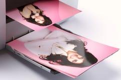 färgrik fotoprinting Royaltyfri Foto