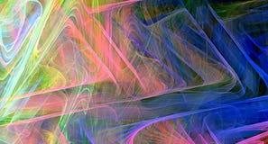 färgrik fractal för abstrakt bakgrund royaltyfria bilder