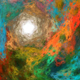 färgrik fractal för abstrakt bakgrund Fotografering för Bildbyråer