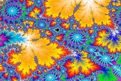 färgrik fractal för bakgrund Royaltyfri Fotografi