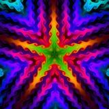 färgrik fractal094r stjärna för bakgrund Arkivbild