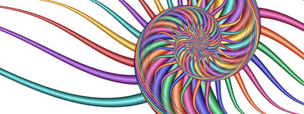 färgrik fractalbildswirl Arkivbild