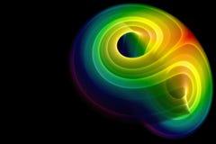 färgrik fractalprydnad Royaltyfri Foto