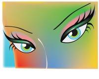 färgrik framsida Royaltyfria Bilder