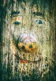 Färgrik framsida för trädstam arkivfoto